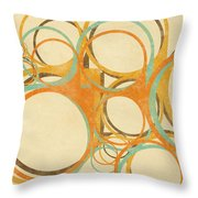 Abstract Circle Throw Pillow