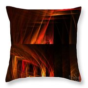 Abstract Forty-seven Throw Pillow