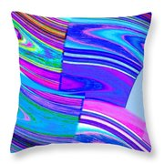 Abstract Fusion 44 Throw Pillow