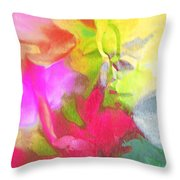 Abstract Garden Impressions Throw Pillow