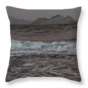 Abstract Kino Bay Throw Pillow
