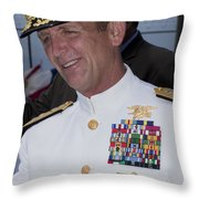 Admiral Eric T. Olson Speaks Throw Pillow