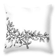 Advertising Art: Wreath Throw Pillow
