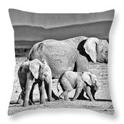 African Elephant In The Masai Mara Throw Pillow