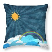 After Rainy Throw Pillow