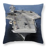 Aircraft Carrier Uss Carl Vinson Throw Pillow