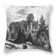 Albert Bierstadt (1830-1902) Throw Pillow by Granger