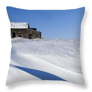Alberta, Canada Abandoned Farm Building Throw Pillow by Philippe Widling