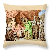 Alexander The Great And His Physician Throw Pillow