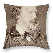 Alfred Tennyson Throw Pillow