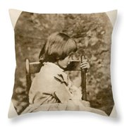 Alice Liddell, Alices Adventures Throw Pillow
