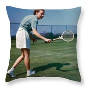 Alice Marble (1913-1990) Throw Pillow
