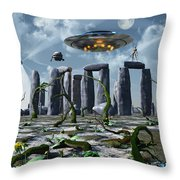Alien Interdimensional Beings Recharge Throw Pillow