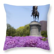 Allium Flower At The Boston Common Throw Pillow
