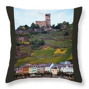 Along The Rhine River Throw Pillow