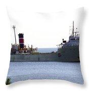 Alpena Ship Throw Pillow