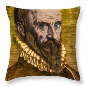 Ambroise Par�, French Surgeon Throw Pillow by Science Source