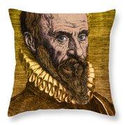 Ambroise Par�, French Surgeon Throw Pillow