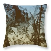 American Gold Rush Throw Pillow