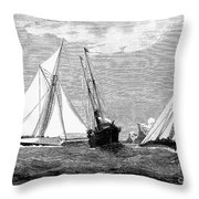 Americas Cup, 1887 Throw Pillow