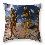 An Advanced Civilization Uses Time Throw Pillow