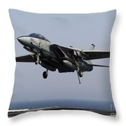 An F-14d Tomcat Comes In For An Throw Pillow