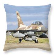 An F-16b Netz Of The Israeli Air Force Throw Pillow