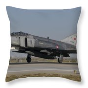 An F-4 Phantom Of The Turkish Air Force Throw Pillow