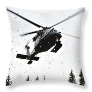 An Hh-60g Pave Hawk Helicopter Prepares Throw Pillow