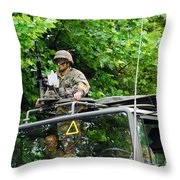 An Infantry Soldier Of The Belgian Army Throw Pillow