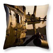 An Oh-58d Kiowa During Sunset Throw Pillow