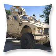 An Oshkosh M-atv Mine Resistant Ambush Throw Pillow