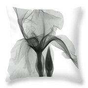 An X-ray Of An Iris Flower Throw Pillow