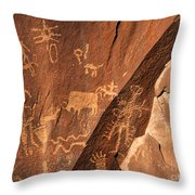 Ancient Indian Petroglyphs Throw Pillow