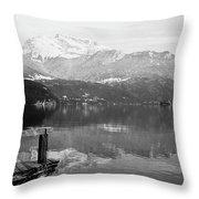 Annecy The Lake Throw Pillow
