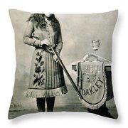 Annie Oakley (1860-1926) Throw Pillow