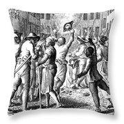 Anti-stamp Act, Boston, 1765 Throw Pillow