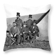 Antietam: Officials, 1862 Throw Pillow