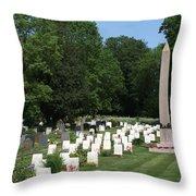 Anzac Cemetery In Harefield Churchyard Throw Pillow