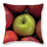 Apples Throw Pillow by Joana Kruse
