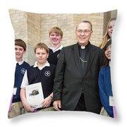 Archbishop Alex Brunett Throw Pillow