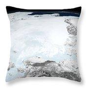 Arctic Sea Ice Throw Pillow