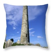 Ardmore Round Tower, Ardmore, Co Throw Pillow