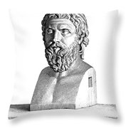Aristophanes (c450-c388 B.c.) Throw Pillow by Granger