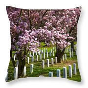 Arlington Cherry Trees Throw Pillow