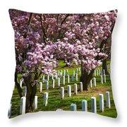 Arlington Cherry Trees Throw Pillow