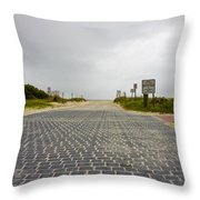 Arriving At The End Throw Pillow