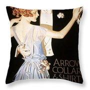 Arrow Shirt Collar Ad Throw Pillow