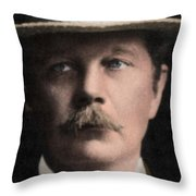 Arthur Conan Doyle, Scottish Author Throw Pillow