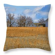 Artist In Field Throw Pillow by William Jobes